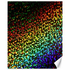Construction Paper Iridescent Canvas 11  x 14
