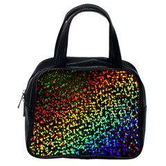 Construction Paper Iridescent Classic Handbags (one Side)