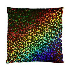 Construction Paper Iridescent Standard Cushion Case (two Sides)