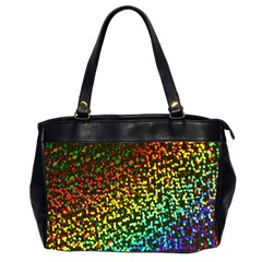Construction Paper Iridescent Office Handbags (2 Sides)