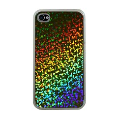 Construction Paper Iridescent Apple iPhone 4 Case (Clear)