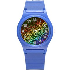 Construction Paper Iridescent Round Plastic Sport Watch (S)