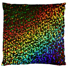 Construction Paper Iridescent Large Cushion Case (one Side)