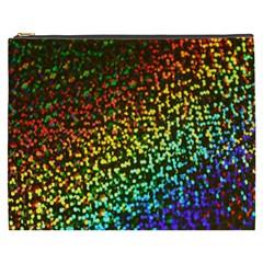 Construction Paper Iridescent Cosmetic Bag (xxxl)