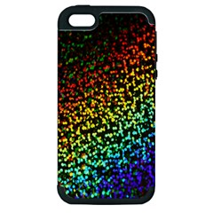 Construction Paper Iridescent Apple Iphone 5 Hardshell Case (pc+silicone)