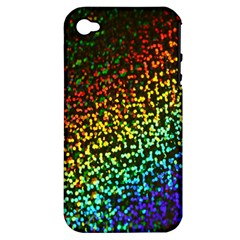 Construction Paper Iridescent Apple Iphone 4/4s Hardshell Case (pc+silicone)