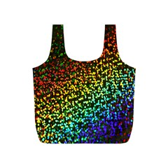Construction Paper Iridescent Full Print Recycle Bags (S)