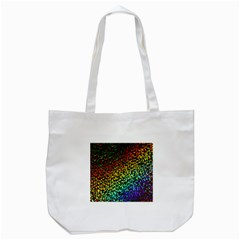Construction Paper Iridescent Tote Bag (white)