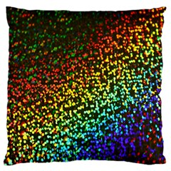 Construction Paper Iridescent Large Flano Cushion Case (One Side)