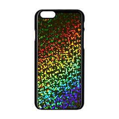 Construction Paper Iridescent Apple Iphone 6/6s Black Enamel Case