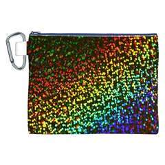 Construction Paper Iridescent Canvas Cosmetic Bag (XXL)