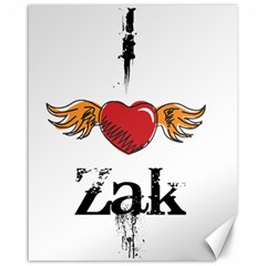 I HEART ZAK Canvas 16  x 20