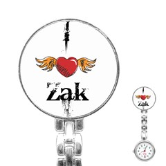 I HEART ZAK Stainless Steel Nurses Watch