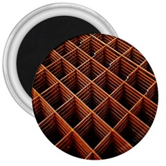 Metal Grid Framework Creates An Abstract 3  Magnets