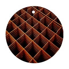 Metal Grid Framework Creates An Abstract Ornament (round)