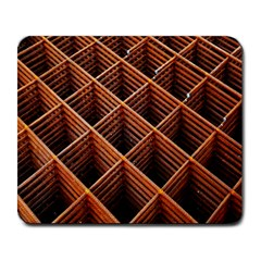 Metal Grid Framework Creates An Abstract Large Mousepads