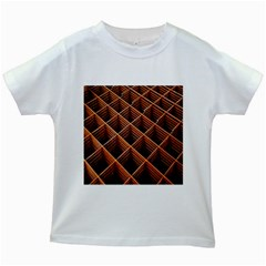 Metal Grid Framework Creates An Abstract Kids White T-Shirts