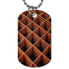 Metal Grid Framework Creates An Abstract Dog Tag (One Side)