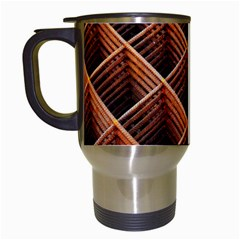 Metal Grid Framework Creates An Abstract Travel Mugs (White)