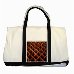 Metal Grid Framework Creates An Abstract Two Tone Tote Bag