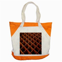 Metal Grid Framework Creates An Abstract Accent Tote Bag