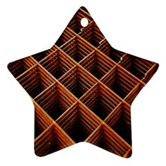 Metal Grid Framework Creates An Abstract Star Ornament (two Sides)