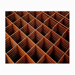 Metal Grid Framework Creates An Abstract Small Glasses Cloth (2-Side)