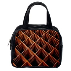 Metal Grid Framework Creates An Abstract Classic Handbags (One Side)