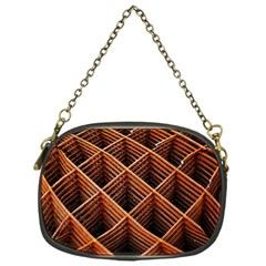 Metal Grid Framework Creates An Abstract Chain Purses (one Side)