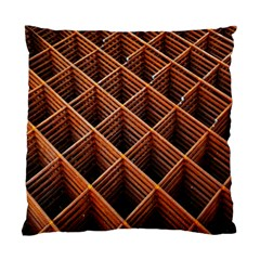 Metal Grid Framework Creates An Abstract Standard Cushion Case (one Side)
