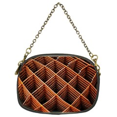 Metal Grid Framework Creates An Abstract Chain Purses (two Sides)