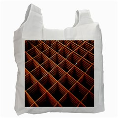 Metal Grid Framework Creates An Abstract Recycle Bag (two Side)
