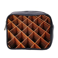 Metal Grid Framework Creates An Abstract Mini Toiletries Bag 2 Side