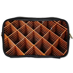 Metal Grid Framework Creates An Abstract Toiletries Bags 2 Side