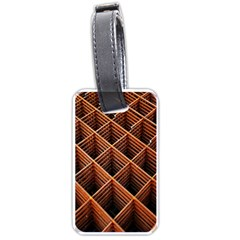 Metal Grid Framework Creates An Abstract Luggage Tags (two Sides)