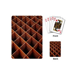 Metal Grid Framework Creates An Abstract Playing Cards (mini)