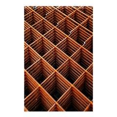 Metal Grid Framework Creates An Abstract Shower Curtain 48  X 72  (small)