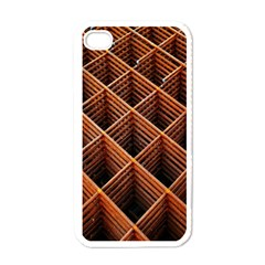Metal Grid Framework Creates An Abstract Apple Iphone 4 Case (white)