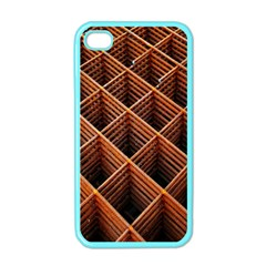 Metal Grid Framework Creates An Abstract Apple Iphone 4 Case (color)