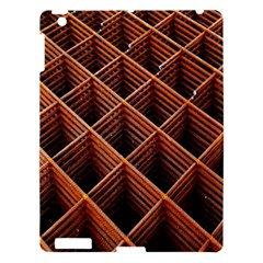 Metal Grid Framework Creates An Abstract Apple Ipad 3/4 Hardshell Case