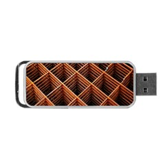 Metal Grid Framework Creates An Abstract Portable Usb Flash (two Sides)