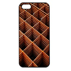 Metal Grid Framework Creates An Abstract Apple Iphone 5 Seamless Case (black)