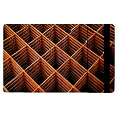 Metal Grid Framework Creates An Abstract Apple Ipad 3/4 Flip Case