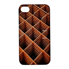 Metal Grid Framework Creates An Abstract Apple Iphone 4/4s Hardshell Case With Stand