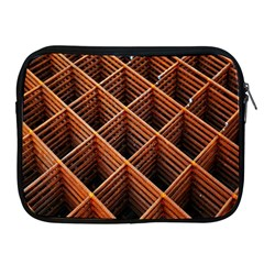 Metal Grid Framework Creates An Abstract Apple Ipad 2/3/4 Zipper Cases