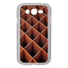 Metal Grid Framework Creates An Abstract Samsung Galaxy Grand Duos I9082 Case (white)