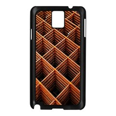Metal Grid Framework Creates An Abstract Samsung Galaxy Note 3 N9005 Case (black)