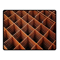 Metal Grid Framework Creates An Abstract Double Sided Fleece Blanket (Small)