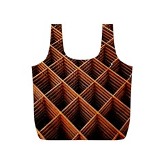 Metal Grid Framework Creates An Abstract Full Print Recycle Bags (s)