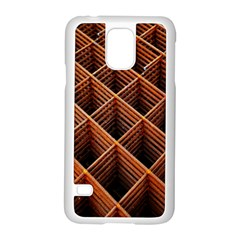 Metal Grid Framework Creates An Abstract Samsung Galaxy S5 Case (white)